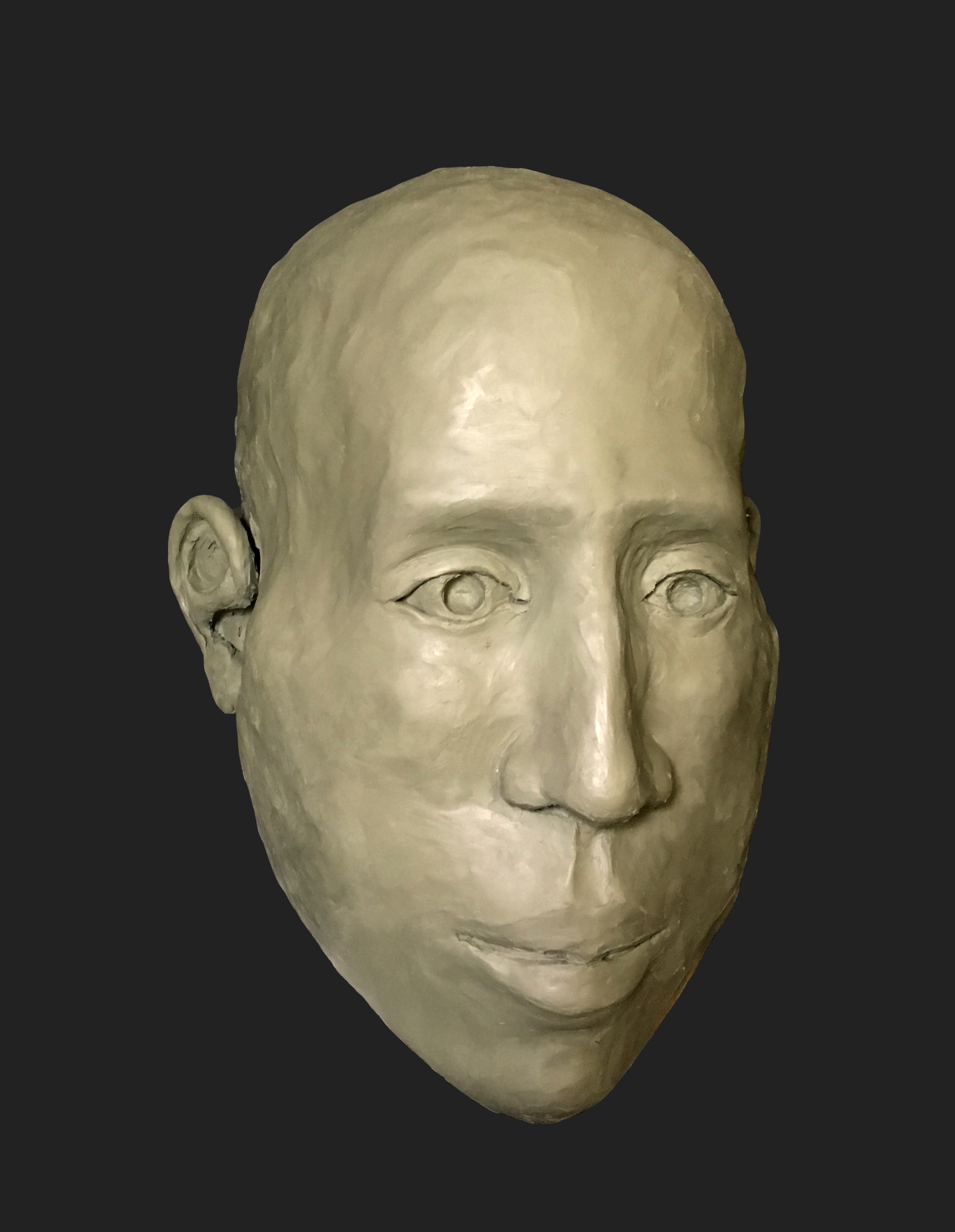 Figure 2: Forensic facial approximation of crania #0841 of the Morton Cranial Collection, Penn Museum. Approximation and photograph by Elizabeth Bouton, 2018.