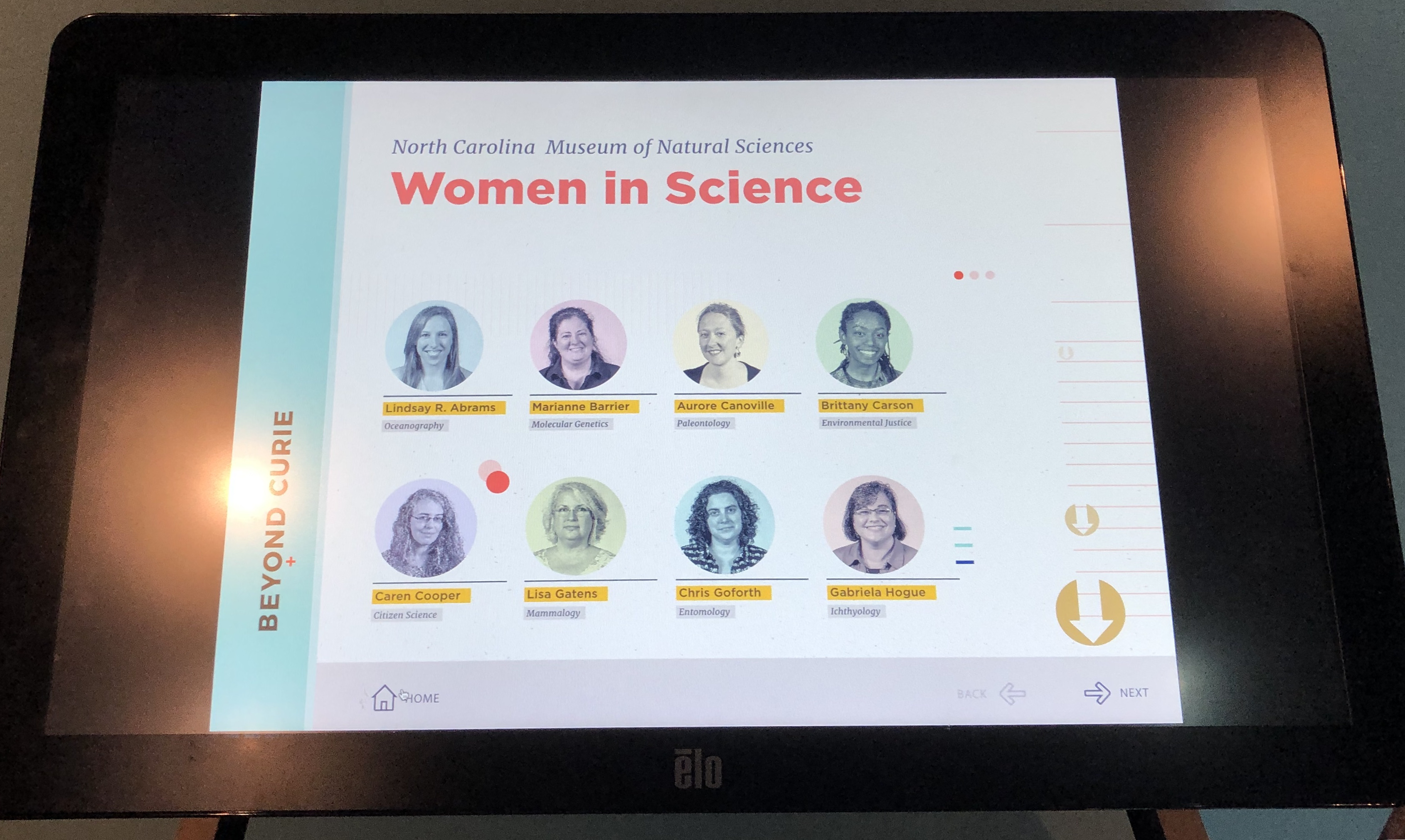 Figure 5. Women scientists at the museum, NCNMS, 2019. Photo by the author.
