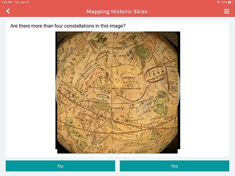 Figure 2: Zooniverse iPad app.
