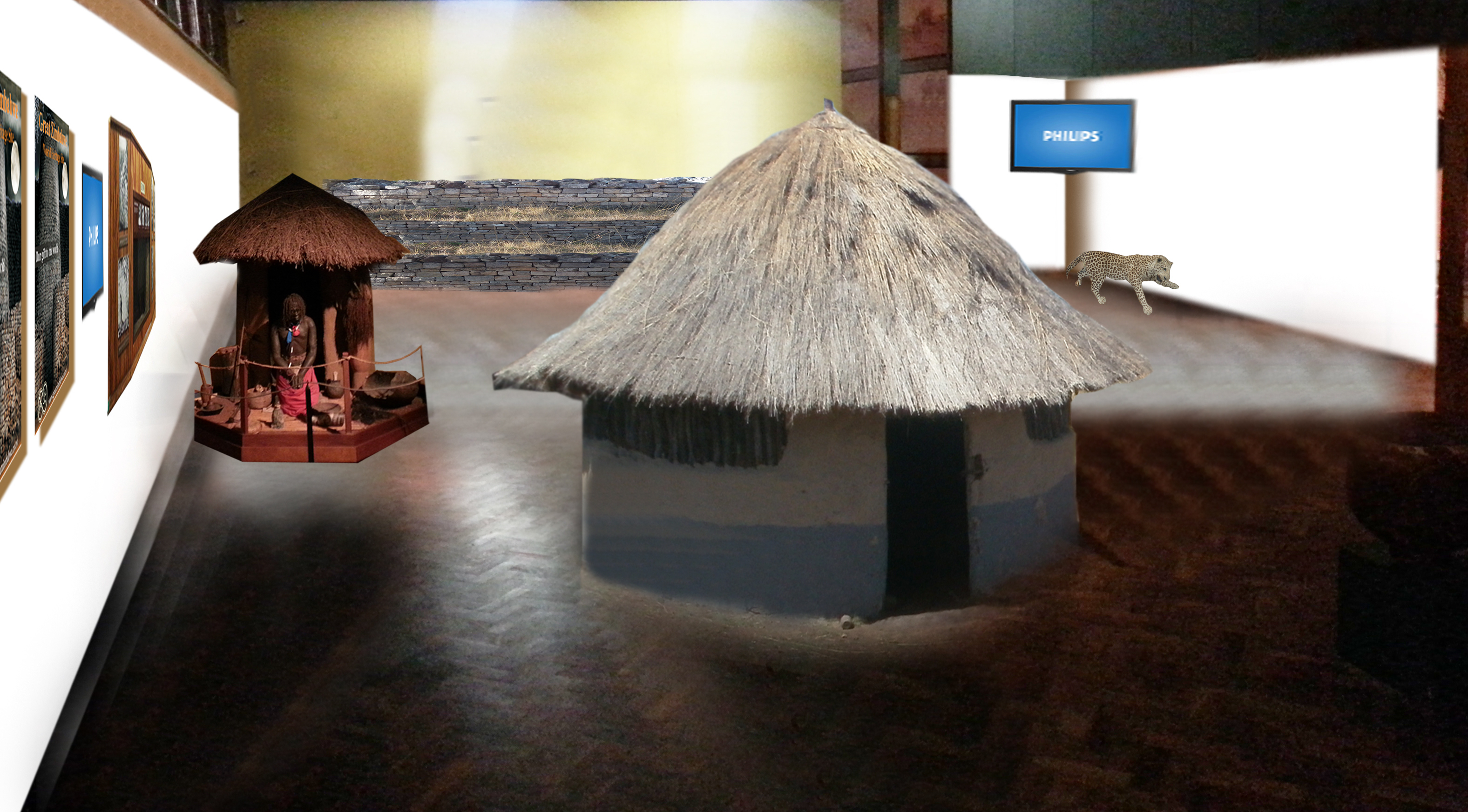 An artistic impression of the proposed interactive nature of the Beit Gallery, graphic designs by Munyaradzi Mashamaire, 6/15/14.