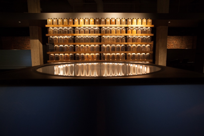 Figure 2. Jars of soil, The Legacy Museum: From Enslavement to Mass Incarceration, photo credit: Equal Justice Initiative/Human Pictures.