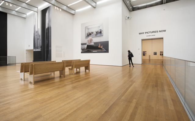 """Figure 4. Installation view of """"Louise Lawler: WHY PICTURES NOW"""" at MoMA,April 30, 2017–July 30, 2017. Photo by Martin Seck."""