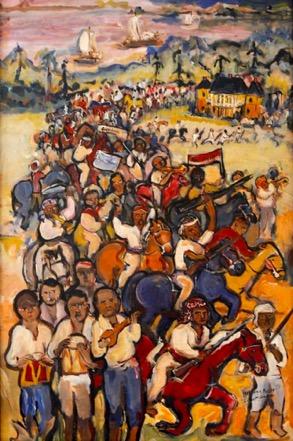 Figure 4: Lorraine Gendron,Slave Revolt of 1811, 2011. Oil on canvas.