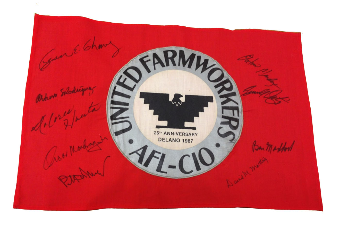Figure 2: United Farmworkers Banner, 1987. AFL-CIO artifacts collection, Special Collections and University Archives, University of Maryland. Photograph by author.