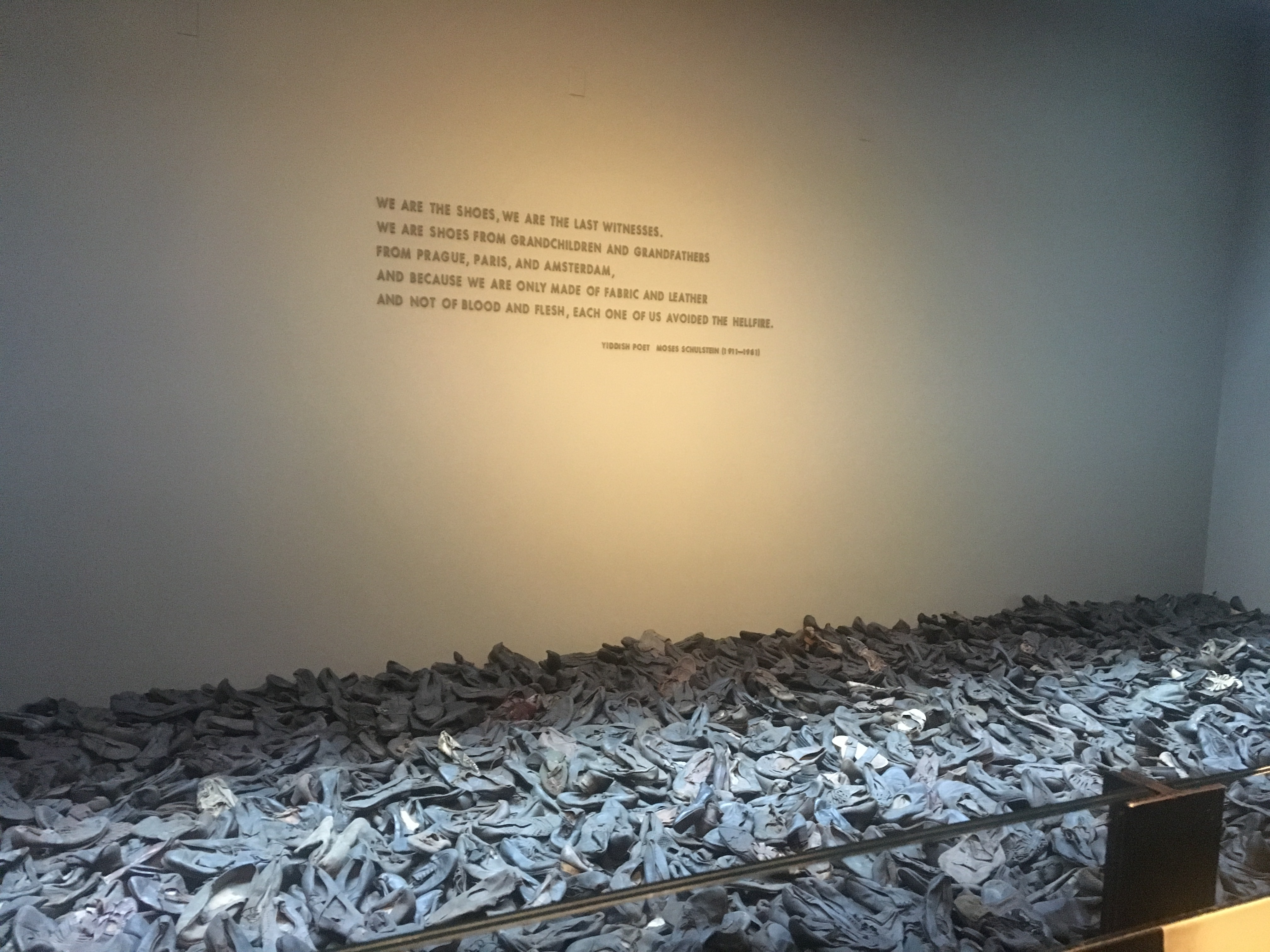 Figure 2: Shoes of Holocaust victims on display at United States Holocaust Memorial Museum, March 8, 2017.